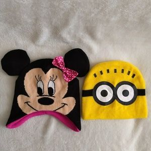 Minnie Mouse and Minion Hats